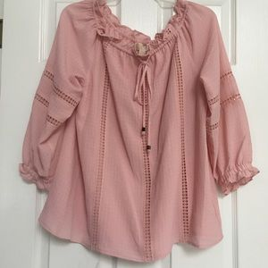 Michael Kors Pale Pink Blouse  Size L